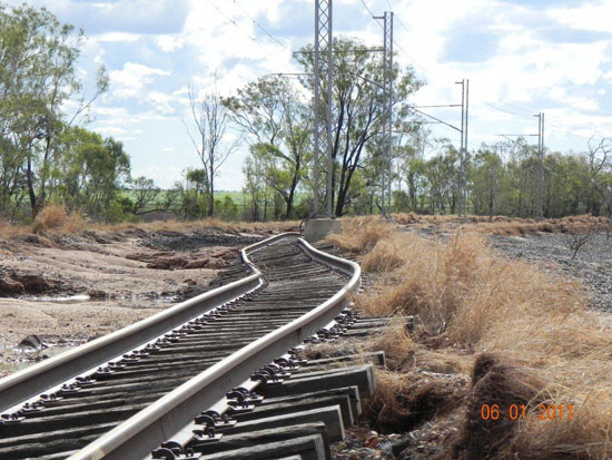 australian rail damage