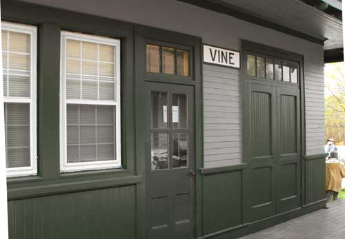 side view of Vine station