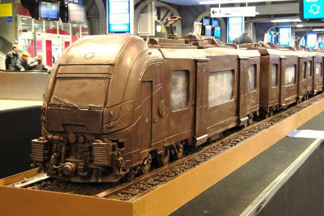 chocolate high speed train