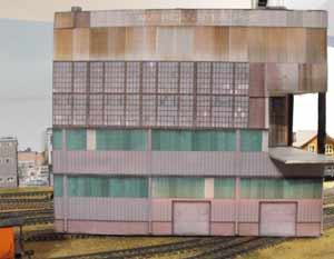 Clever industrial paper building