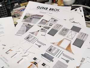 Clever Models printed sheets