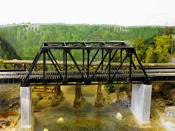HO scale bridges scene