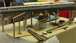 HO scale laser cut Chicago L