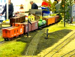 S scale freight train