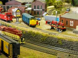 HO scale junction scene