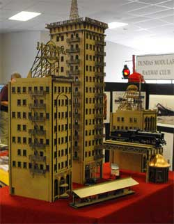 HO scale laser cut skyscraper buildings