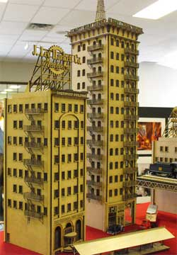 HO scale laser cut skyscrapers
