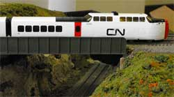 HO scale CN turbotrain bar car