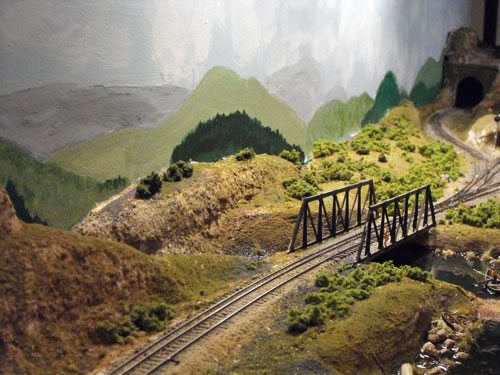 Railroad scenery trees