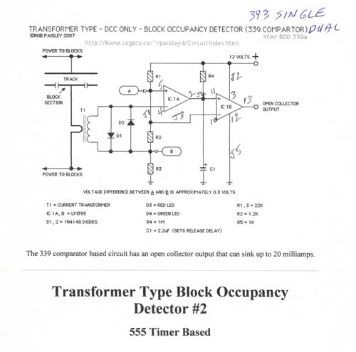 DCC block occupancy detector