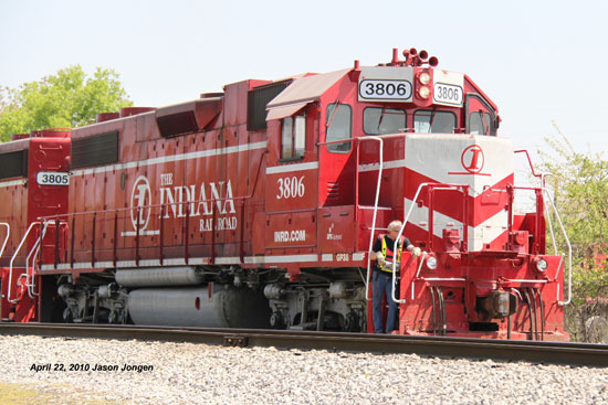 Indiana Railroad 3806 GP38