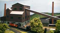 model railroad steel complex