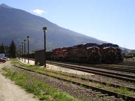 CP locomotives at Revelstoke