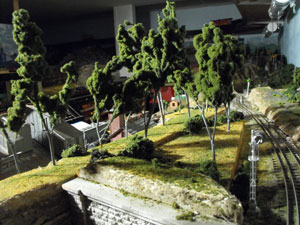 hilltop of model sedum trees