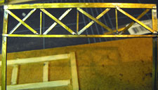 HO brass signal bridge trusses