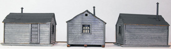 logging camp skid shack models