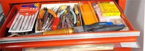 automotive tool chest drawer storage