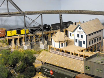 model railroad fishing harbour
