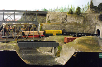 model railroad bridges and steel trestle