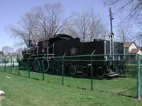 CN 2-6-0 steam engine 81 and tender on display in Palmerston, Ontario