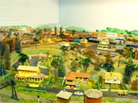 GCRC model train city with mirror