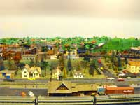GCRC model railroad cityscape