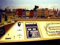 control panel on the GCR model railroad layout