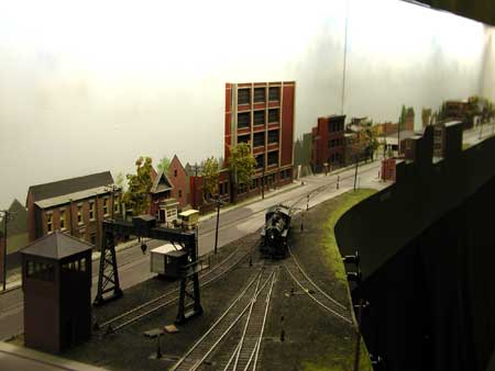 model railroad 3D building background scenery