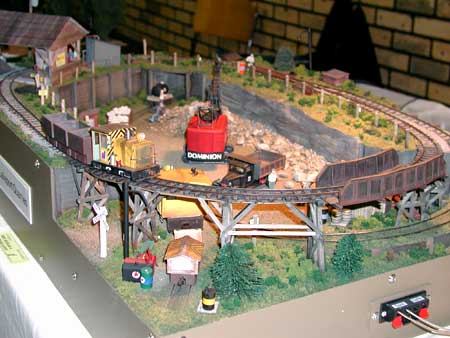 Small Model Railroad Photos From a Narrow Gauge Train Show
