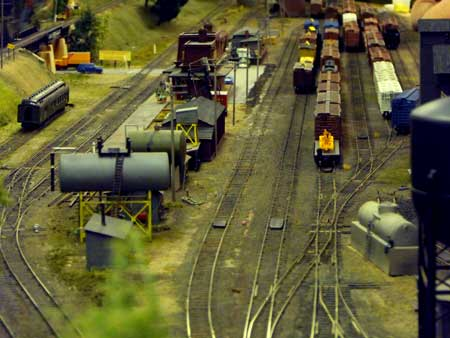 N scale freight yard layout design