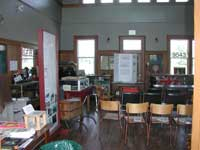 meeting room in Palmerston, Ontario railroad station