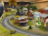 train show HO scale village curve