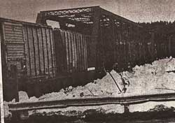 Destroyed TVR bridge