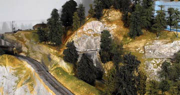 model railroad mountain scenery