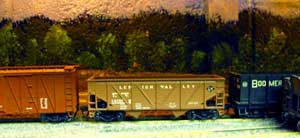 model railroad backdrop painted on wall