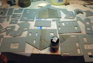 prepainting model building walls