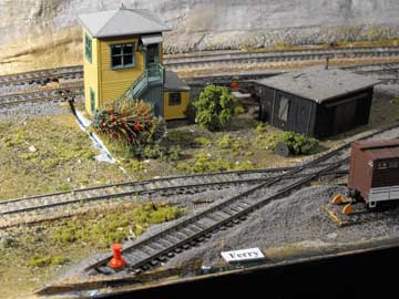 model train ferry lead track