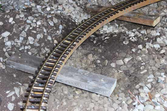 garden railway track cross supports