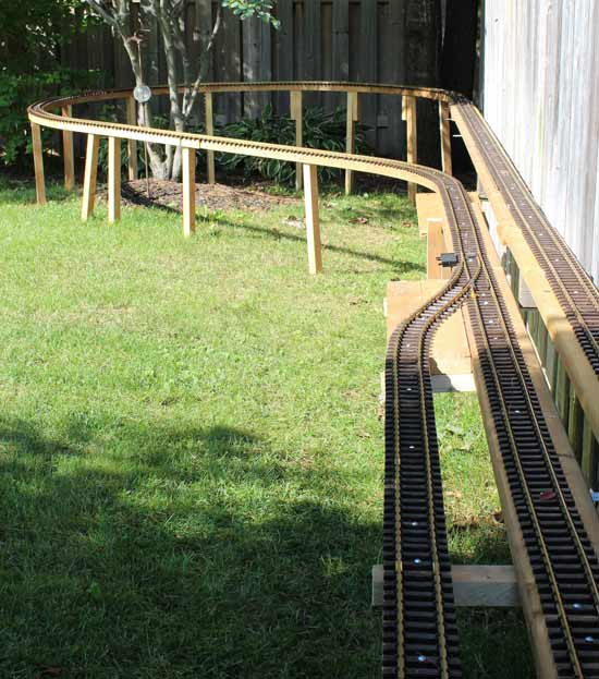 g scale passing track and loop