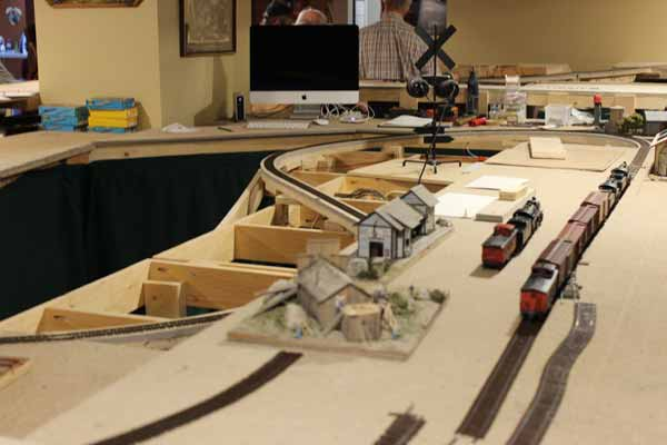 ho model train layout under construction