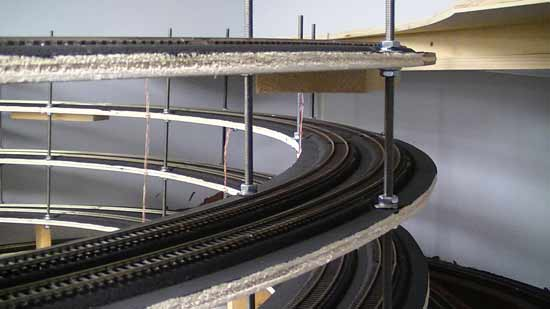 deck rail wiring helix construction ideas for model railroads  helix construction ideas for model railroads