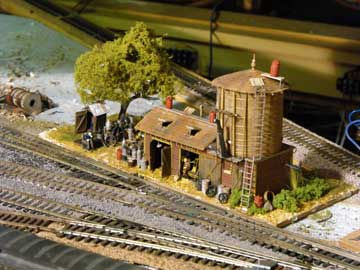 model railroad Finescale maintenance shed