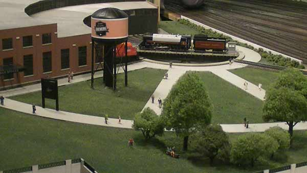 model of former toronto roundhouse