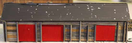 ho model of coal shed at thornbury