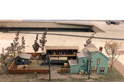model diorama of lumberyard