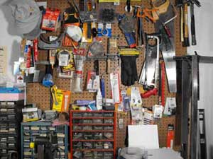 tools and pegboard