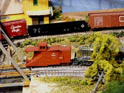 model train cn snowplow