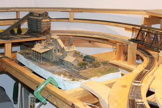 model railroad track work