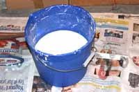 bucket for plaster cleanup