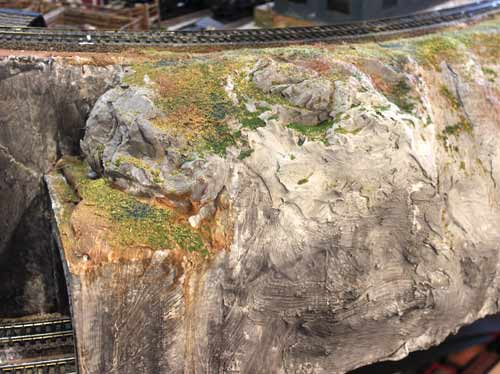 model scenery of ink plus paint and ground cover